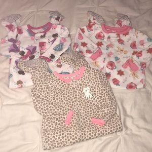 Other - Three 12 month footie pajamas
